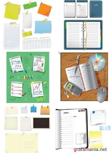 Notes and Stickers Vector Graphics