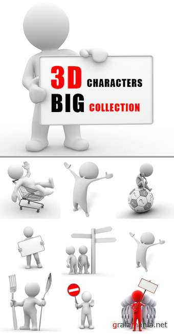 3D Characters - BIG Collection