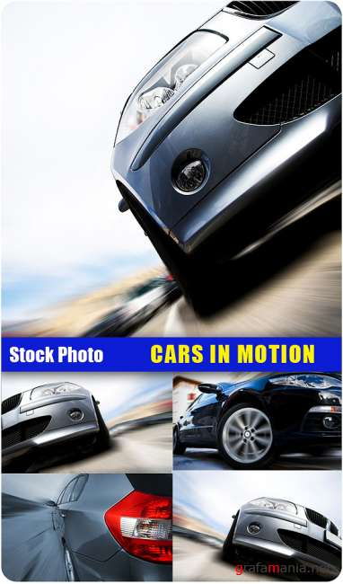 Stock Photo - Car in motion