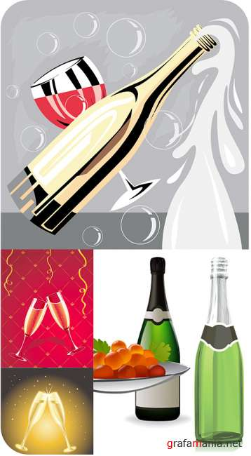 Stock Vectors - Champagn