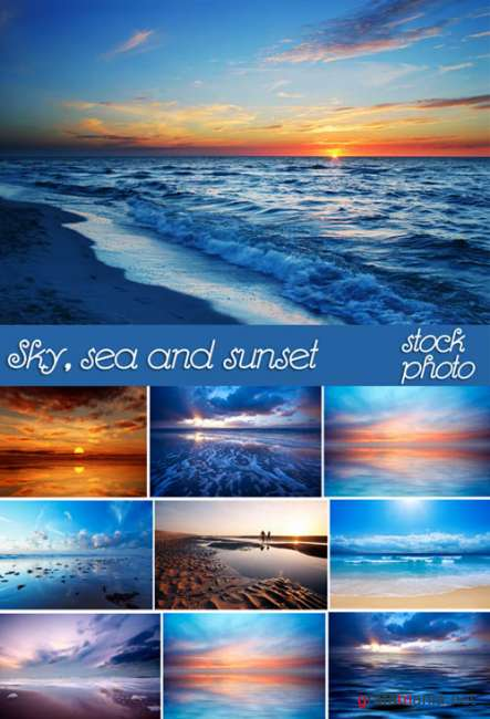 Sky, sea and sunset - Stock photos