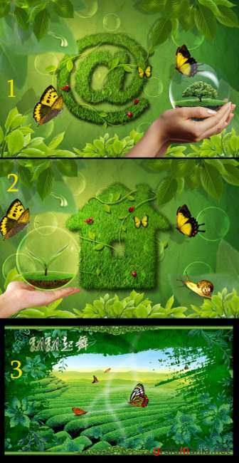 PSD templates - Green life