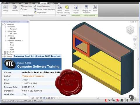 VTC: Autodesk Revit Architecture 2010 Tutorials (2009)
