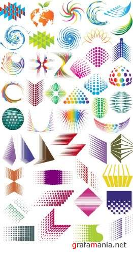 Abstract Vector Elements for Designers