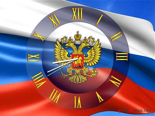 "Скринсейвер ""Clock Flag Russia"""