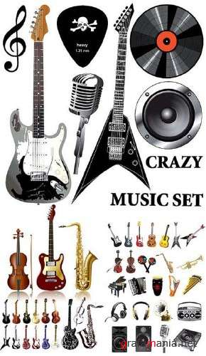 Crazy Music Vectors