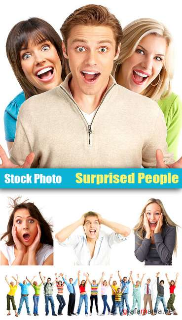 Stock Photo - Surprised People