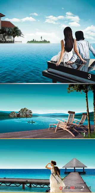 PSD templates - Blue sea
