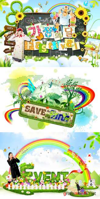 PSD templates - Green festival and events