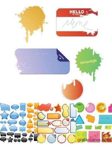 Stickers and Lables Vector Mix