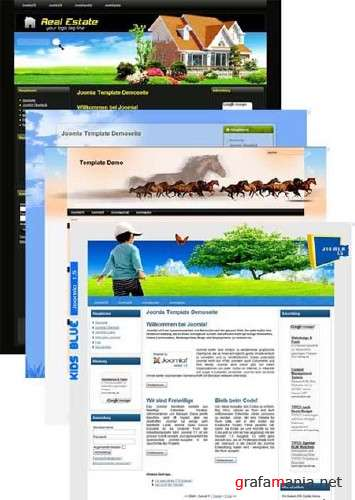 Free Templates for CMS Joomla 1.5 (Pack 6)