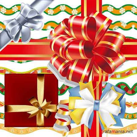 Ribbon Bows VectorsRibbon Bows Vectors