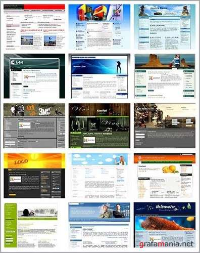 Free Templates for CMS Joomla 1.5 (Pack 8)