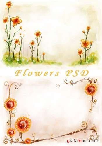 Flower PSD Template 4