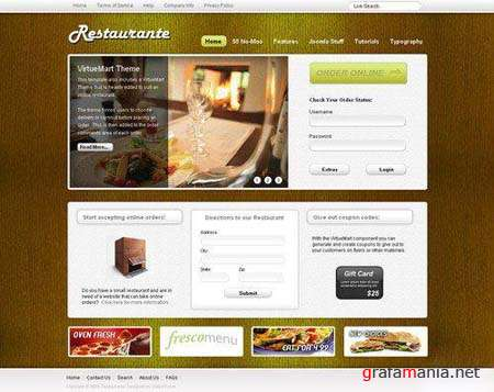 Shape5 Restaurante - Joomla 1.5 Template