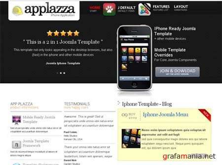 App Plazza � November 2009 Joomla Template