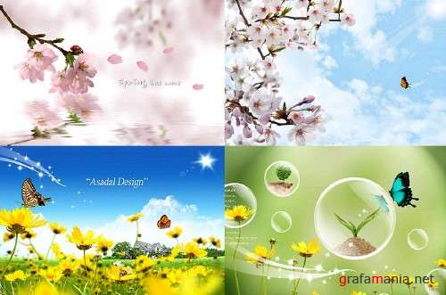 Nature 4 PSD Template