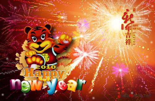 New Year Tiger PSD
