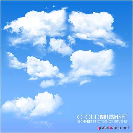 Cloud Photoshop Brushes Set
