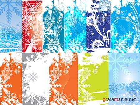 Winter Vector Backgrounds 2