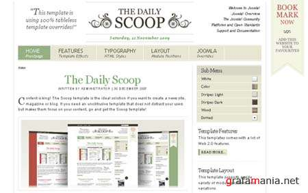 YooTheme Scoop v1.5.7 - Joomla 1.5 Template