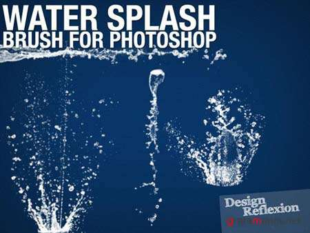Water Splash Photoshop Brushes