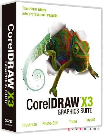 CorelDRAW Graphics Suite X3 SP2 (RUS) + X4 (ENG) FIXED (portable)