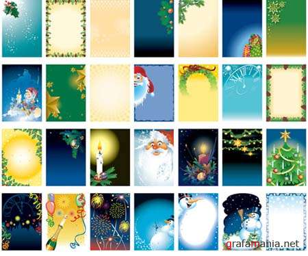 Vector Christmas Templates and Backgrounds