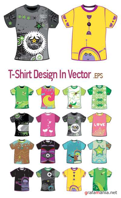 T-Shirt Styling - In Vector
