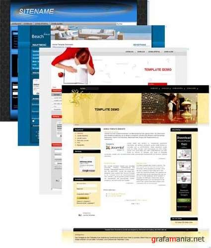 Free Templates for CMS Joomla 1.5 (Pack 12)