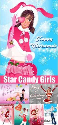Star Candy Vector Girls (Christmas Edition)