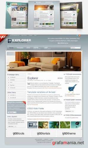 Yootheme Explorer – December 2009 Joomla Template