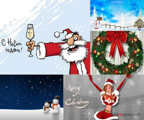 �������������� � ���������� ���� / Merry Christmas and New Year Wallpapers