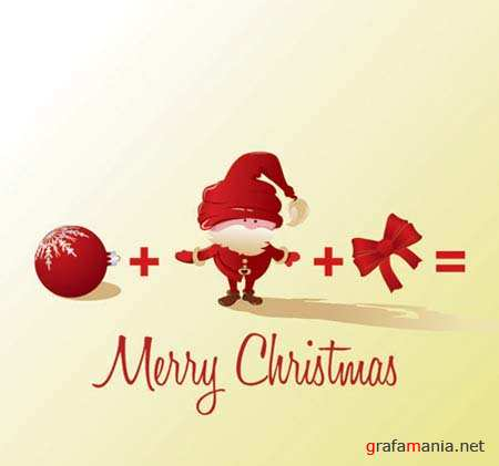 Funny Merry Christmas Vector Arithmetic
