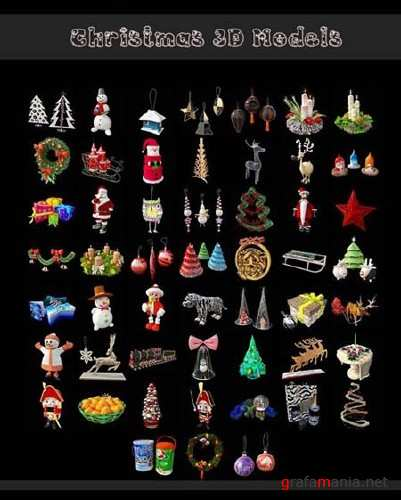 Christmas Toys Collection - 3D Max Models