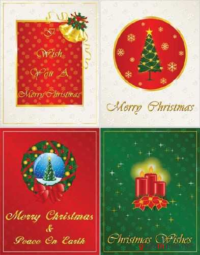 Christmas Vector Greeting Cards 2