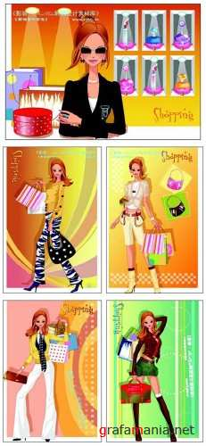 Shopping Vector Girls
