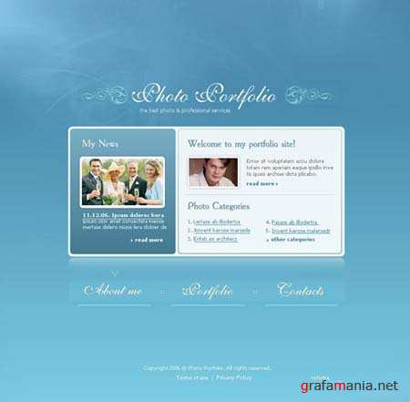 Photo Portfolio Flash Site Template