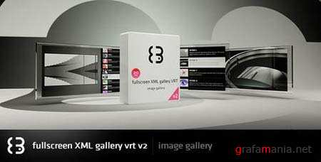 Vrt V2 Fullscreen Xml Gallery - Flash Site Template