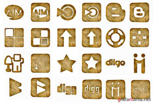 �rumpled PNG Icons