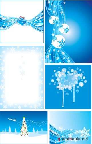 ������ ����������� ���� - Winter Holiday Backgrounds