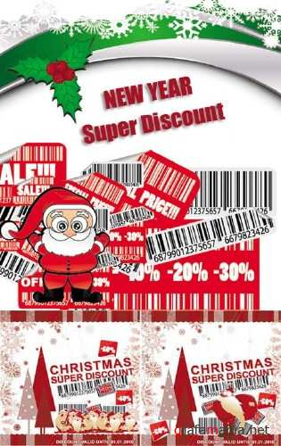 New Year Super Discount - Vector Clipart