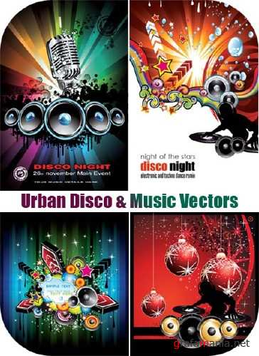 Urban Disco & Music Vectors