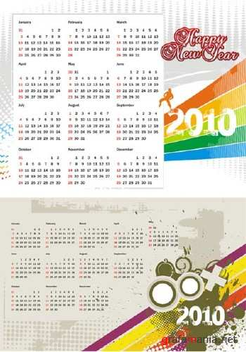 New Year Concept Vector Calendars 2010