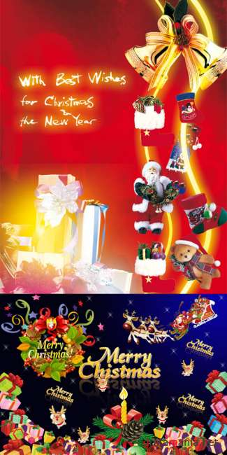 PSD templates - New Year & Merry Christmas 3