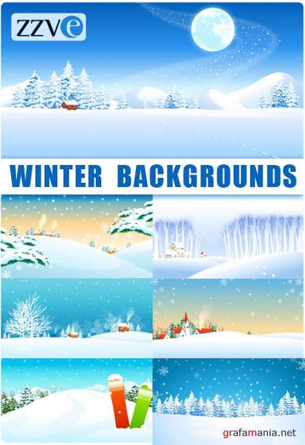 Winter Background Vectors from ZZVE