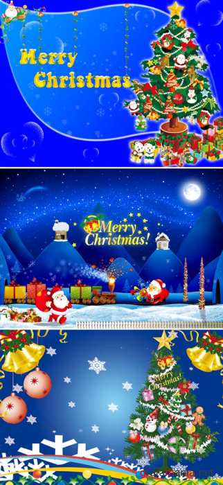 PSD templates - New Year & Merry Christmas 6