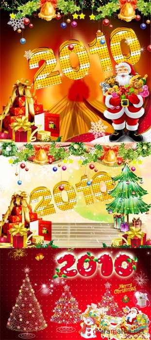 PSD templates - New Year & Merry Christmas 7