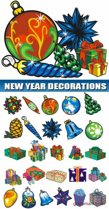 New Year vector decorations | ���������� ���������