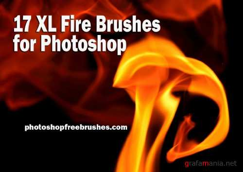 17 Fire Brushes for Photoshop